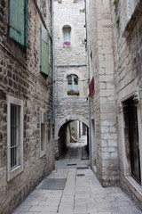 Narrow Street in the Split Old Town