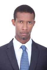 Afro-American businessman posing
