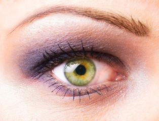 Women's eye macro