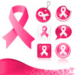 Pink Breast Cancer Awareness Ribbons