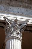 Close up of a corinthian capital. poster