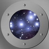 porthole with pleiades