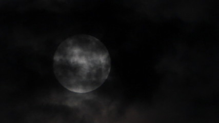 Fuul moon on night storm