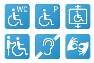 Piktogramme behindertengerecht