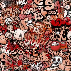 seamless grafiti pattern