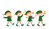 Christmas elves poster