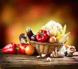 Fototapete Kunst - Frisch - Gemüse