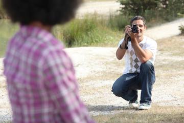Man taking a photo