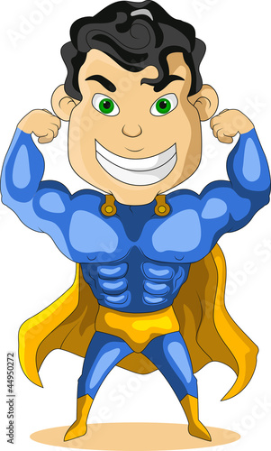 strong blue super hero