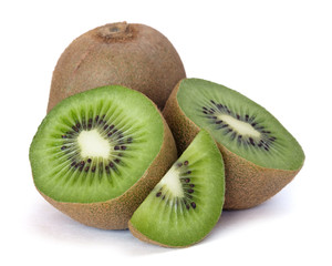 kiwi over white background