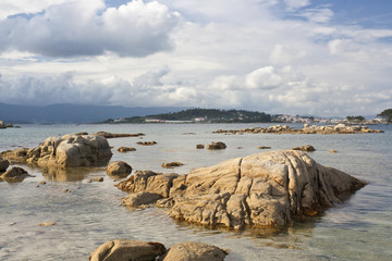 Coastline of Arousa island