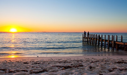 Tramonto a Margaret river, We Australia