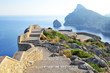 viewing platform with a seaview on mallorca on formentor cape