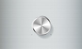 Volume knob control isolated on brushed metal plate -vector illu