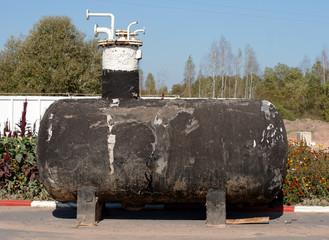 old rusty tank