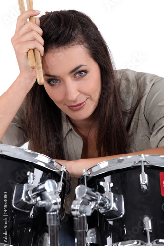 female, drummer