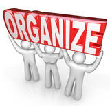Organize People Team Lift Word Help You Get Organized