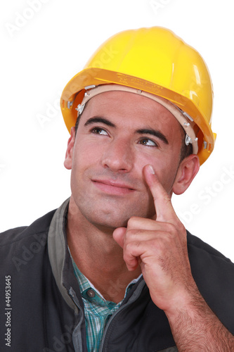 Builder thinking of an idea