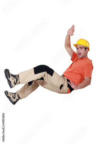 Worker having an accident