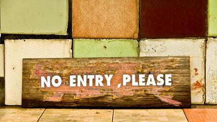 no entry sign board