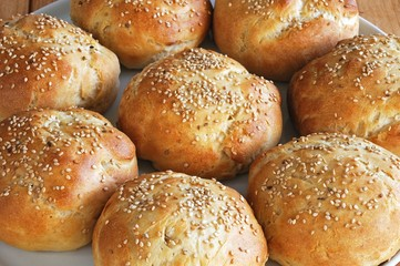 Sesame Seed Bread Buns © Arena Photo UK