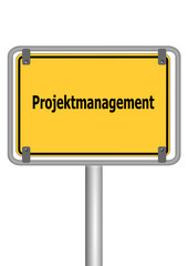 Schild Projektmanagement
