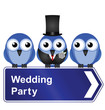 Comical wedding party sign
