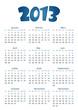 Calendrier 2012 simple - facilement éditable