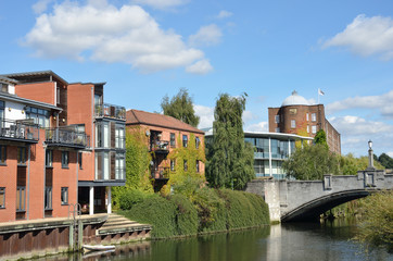 Modern Riverside buildings