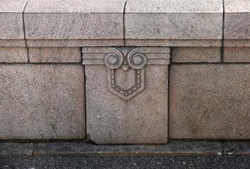 Granite border of an old bridge