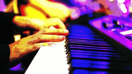 Hand Playing Piano Comic Version