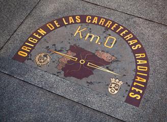 "Restored ""KM 0"" Sign in Puerta del Sol"