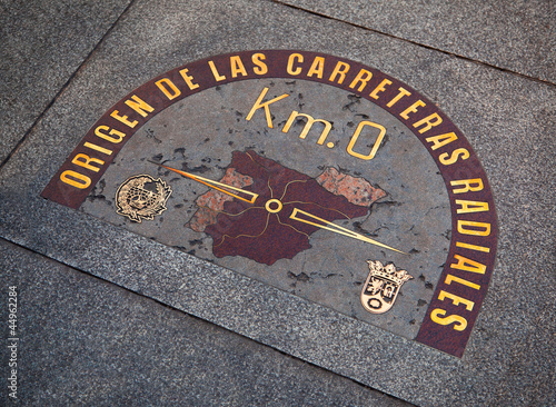 "Restored ""KM 0"" Sign in Puerta del Sol"