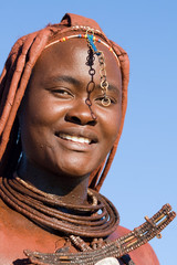 Himba woman portrait with traditional jewelry