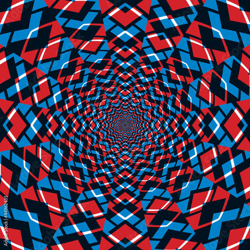Foto op Aluminium Psychedelic Abstract background, red and blue.
