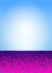 Partyflyer violett blau
