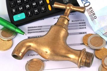 La facture d'eau