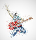 Fototapety Abstract guitarist