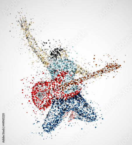 Fridge magnet Abstract guitarist