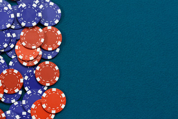 Gambling chips background
