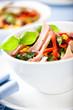 Vegetable salad with tuna and fresh herbs