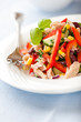 Vegetable salad with tuna and fresh herbs