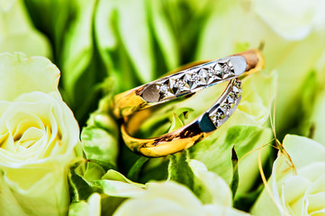 Beautiful background with wedding rings