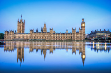 Hdr image of Houses of parliament
