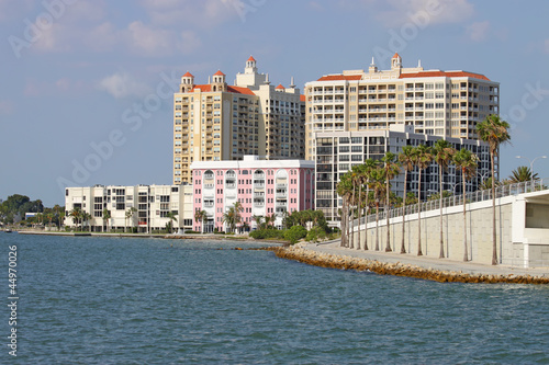 Partial skyline of Sarasota, Florida, viewed from the water