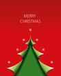 Weihnachtskarte Baum abstrakt