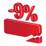 minus 9 percent