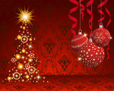 Fototapety Christmas and New Year background