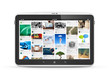 Digital tablet with social media application interface