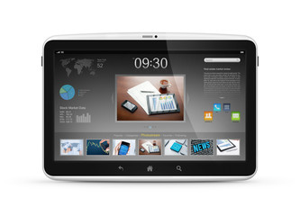 Digital tablet with start screen interface design